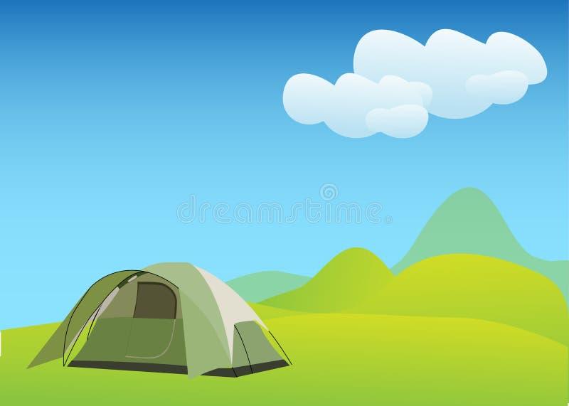 Download Camping In Idyllic Mountain Stock Illustration - Image: 20983730