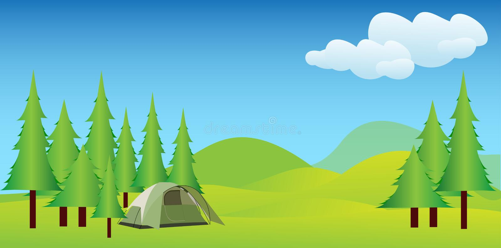 Download Camping In Idyllic Mountains Stock Illustration - Image: 20983744