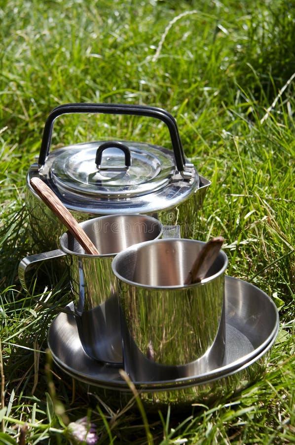 Camping kitchenware stock image