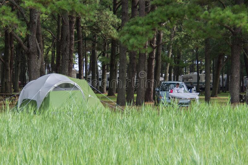 Camping at Maddox Family Campground royalty free stock image