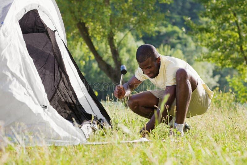 camping man στοκ φωτογραφίες