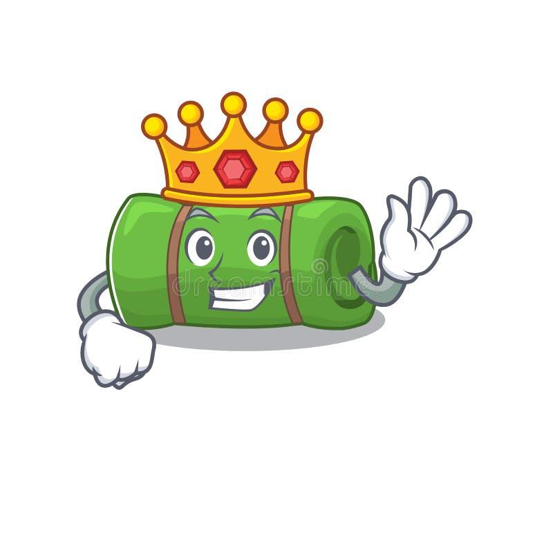 Camping mat Scroll A gestileerd uit King op tekenfilmontwerp royalty-vrije illustratie