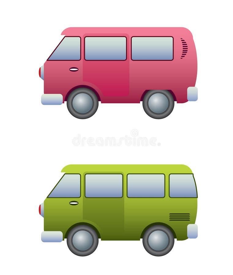 Camping microbus stock illustration
