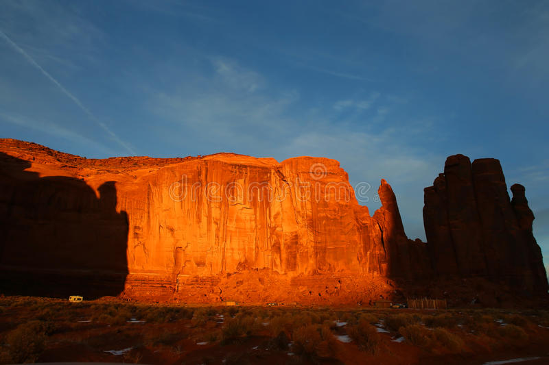 Download Camping in Monument Valley stock image. Image of land - 28698845