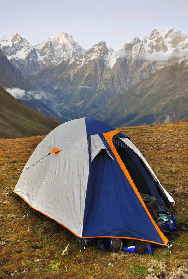 Camping In The Mountains Royalty Free Stock Images
