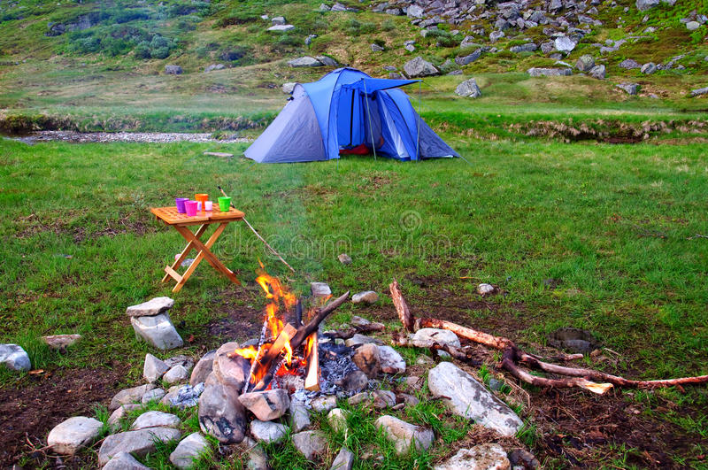 Download Camping in the mountains stock photo. Image of vacation - 20084642