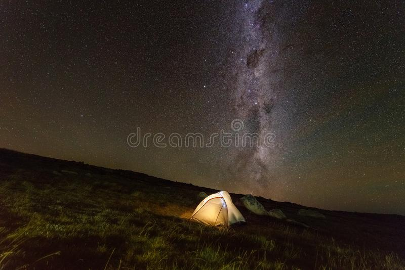 Camping in the mountains. Mount Kosciuszko Australia stock images
