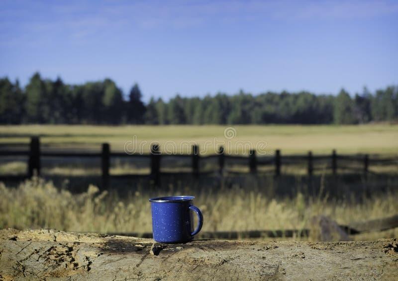 Camping Mug royalty-vrije stock fotografie