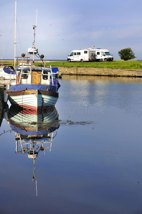 Download Camping in Oland, Sweden stock photo. Image of campervan - 27306806