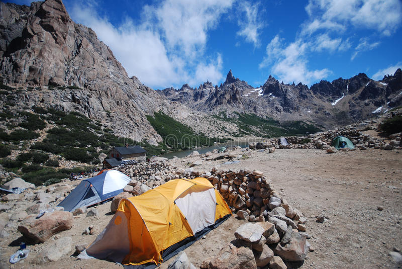 Download Camping in Patagonia stock photo. Image of tent, huayhuash - 20303024