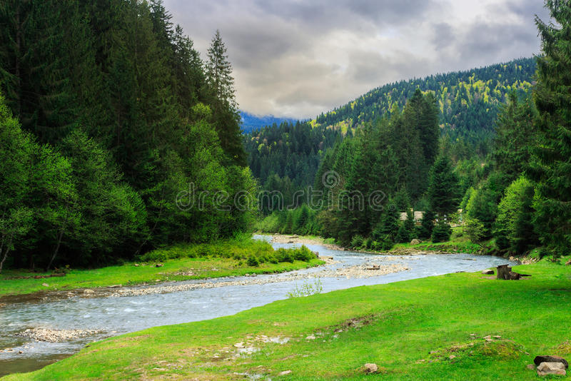 Download Camping Place Near Mountain River Stock Photo - Image: 41196370