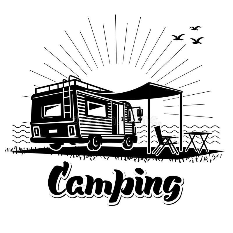 Camping. stock illustration
