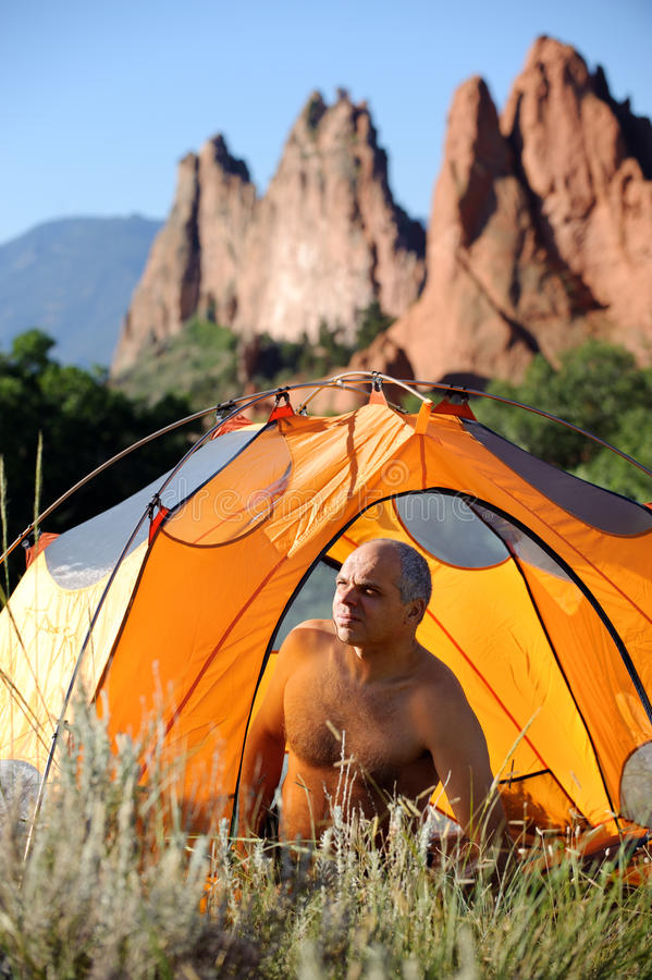 Download Camping In The Rocky Mountains Stock Photo - Image: 16172326