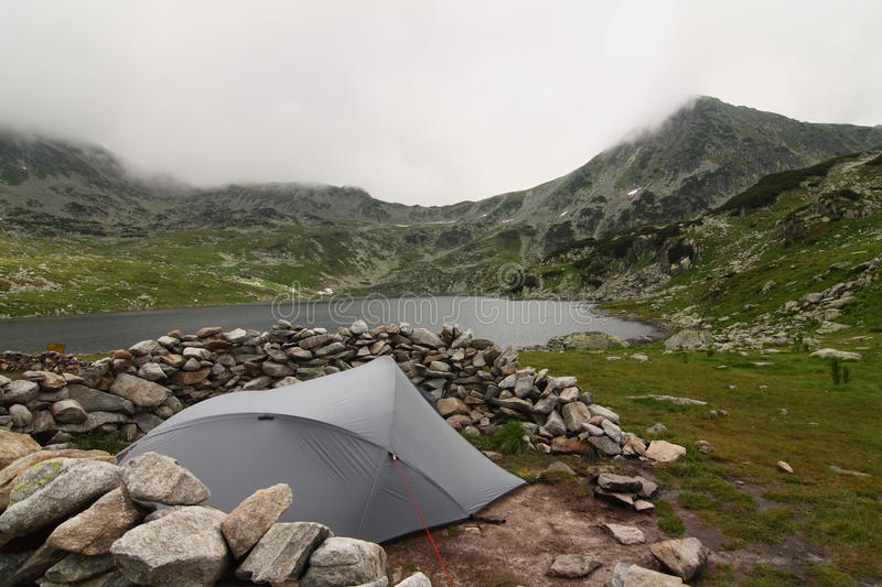 Camping in the Romania mountains royalty free stock photo
