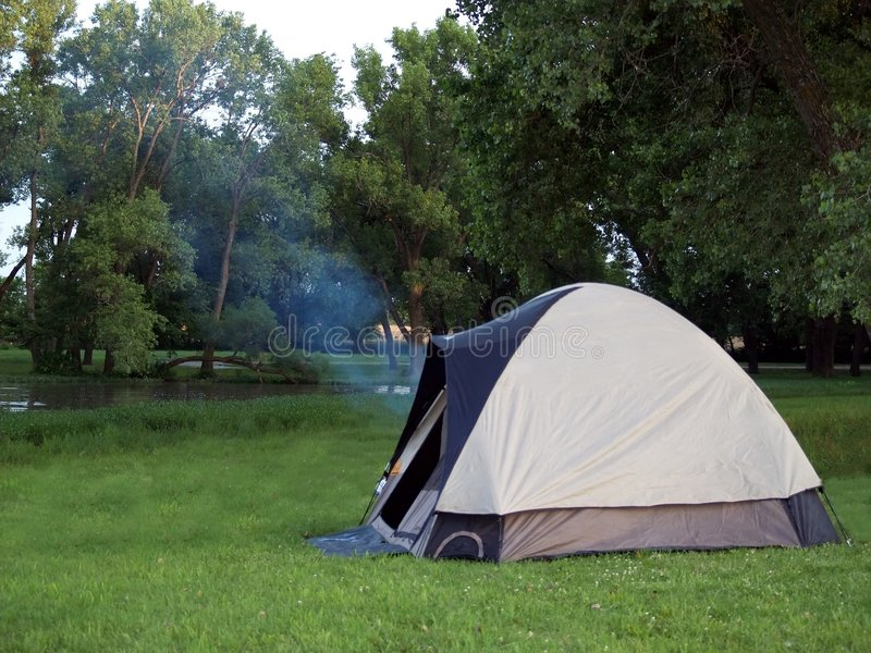 Camping scene royalty free stock photo