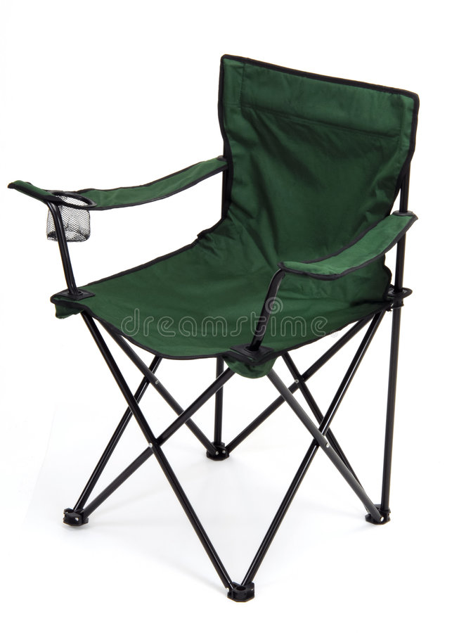 Camping seat royalty free stock photography