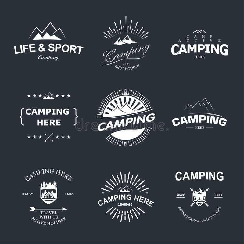 Camping royalty free illustration