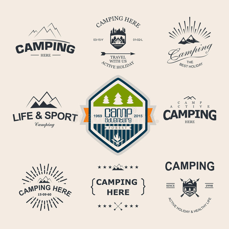 Camping stock illustration