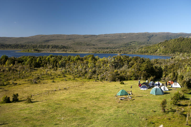 Download Camping site stock photo. Image of accommodation, cost - 18591492