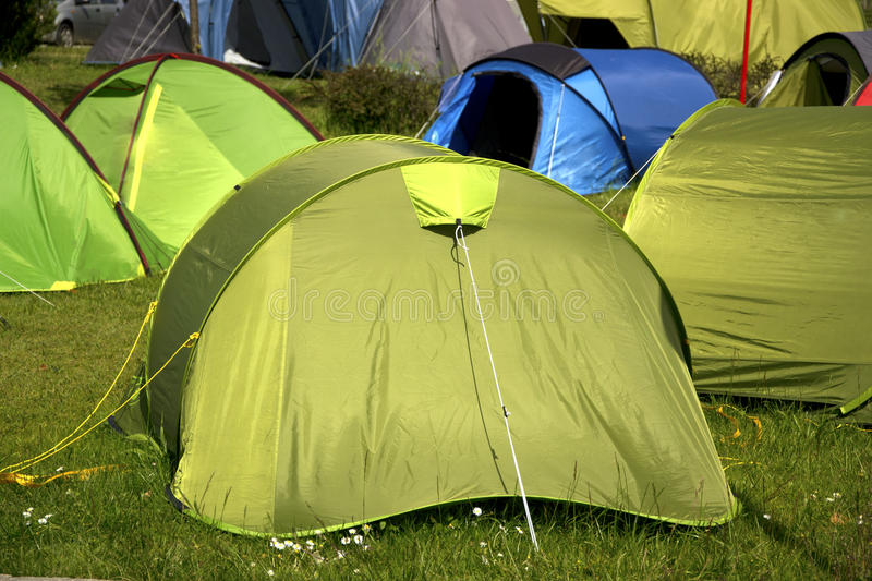 Camping Site Royalty Free Stock Photos