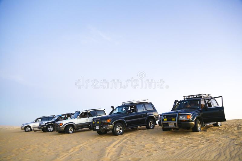 Camping in Siwa, Egypt ,4x4 arabian desert dune riding royalty free stock photography