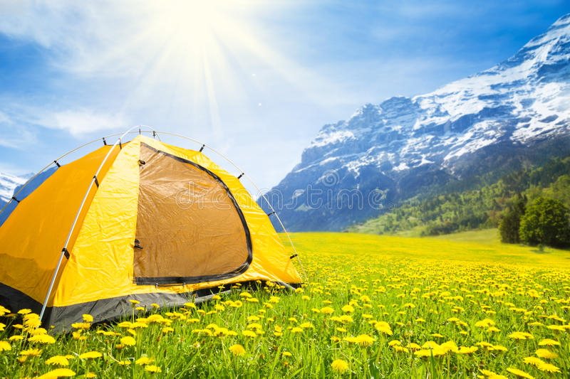 Camping tent in royalty free stock photography