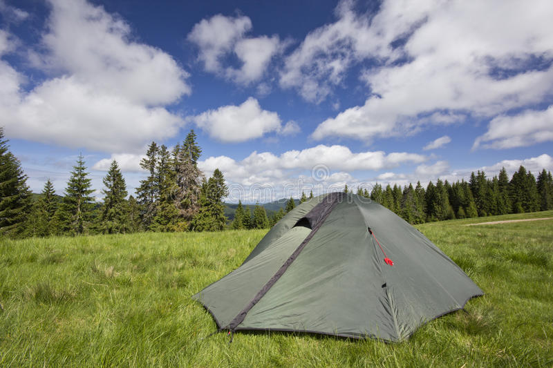 Download Camping With A Tent In The Carpathian Mountains Stock Image - Image: 19845647