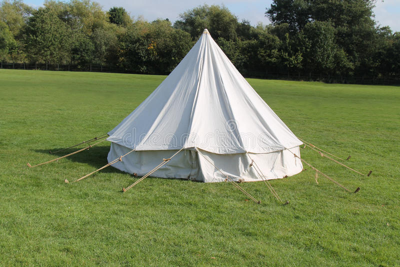 Camping Tent. stock photo. Image of abode, dwelling, white ...