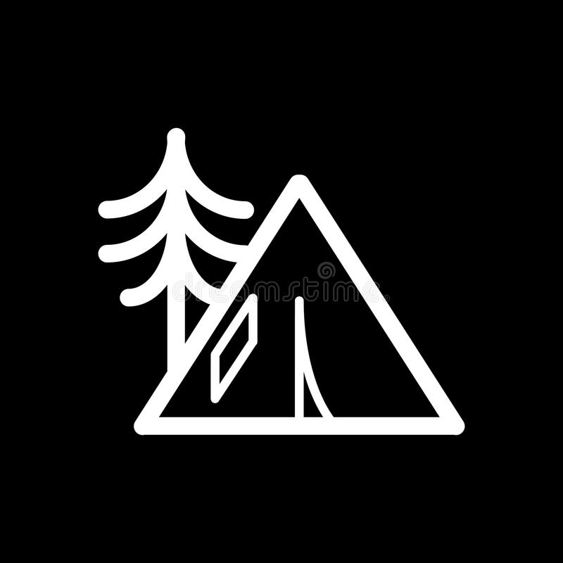 Download C&ing Tent Icon Outline Vector Contour Isolated On Black Background Stock Vector - Illustration of & Camping Tent Icon Outline Vector Contour Isolated On Black ...