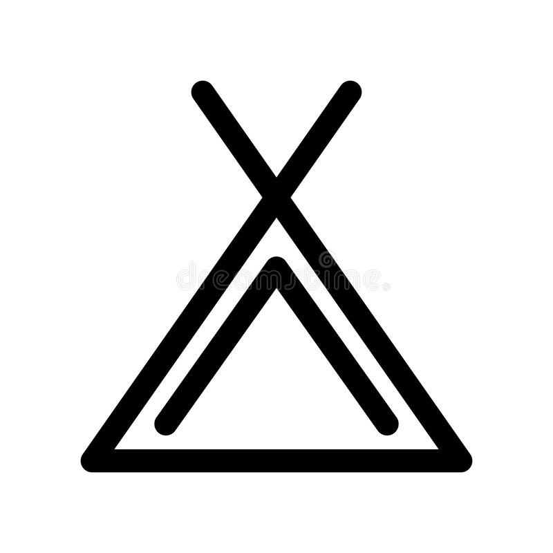 Camping Tent Icon Symbol Of Campsite Outline Modern Design Element