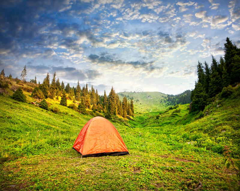 Download Camping Tent in mountains stock photo. Image of landscape - 25758488