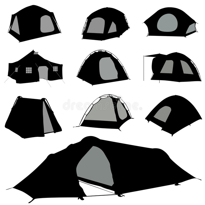 Camping tent vector stock illustration