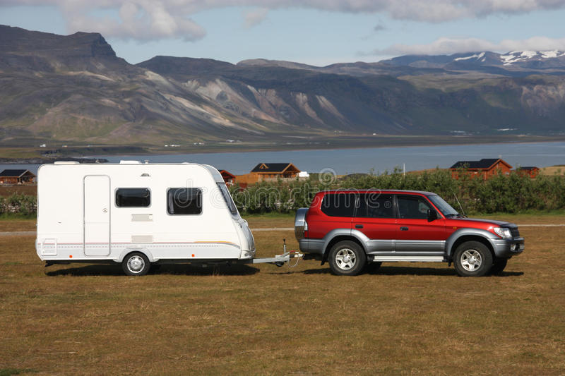 Camping trailer royalty free stock images