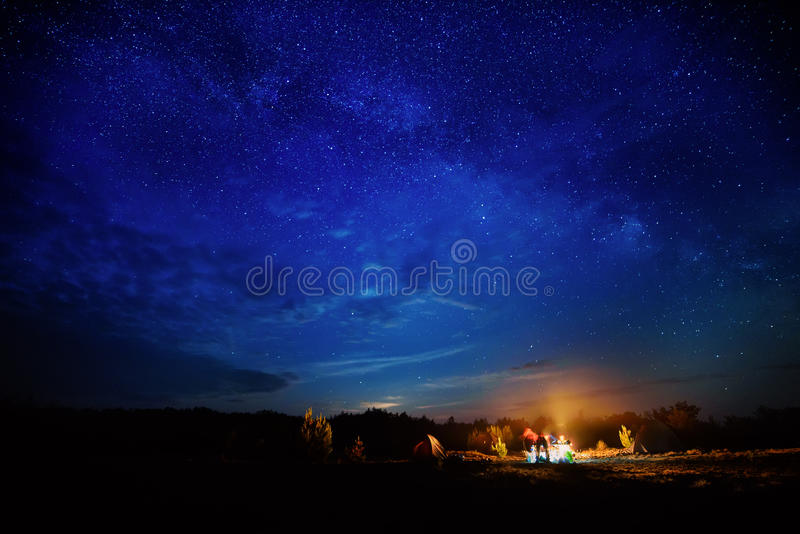 Download Camping Under Star Sky Stock Photo - Image: 83711054