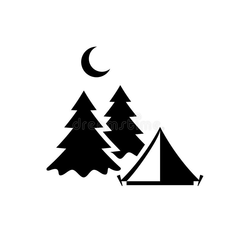 Camping vector pictogram royalty free illustration