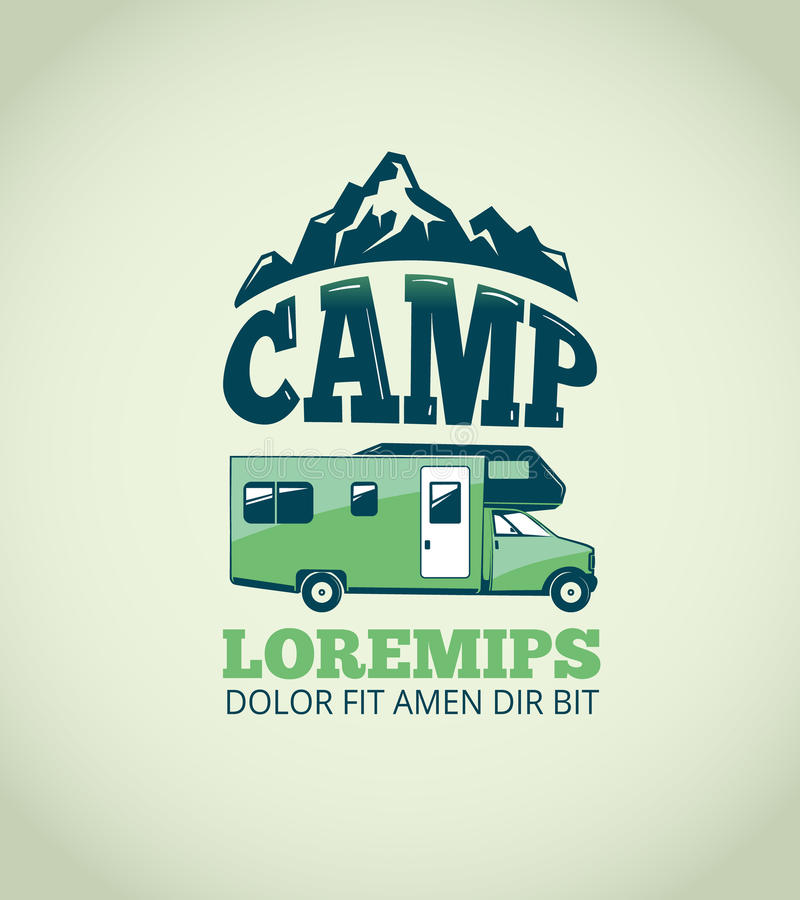 Camping wilderness adventure vector background royalty free illustration