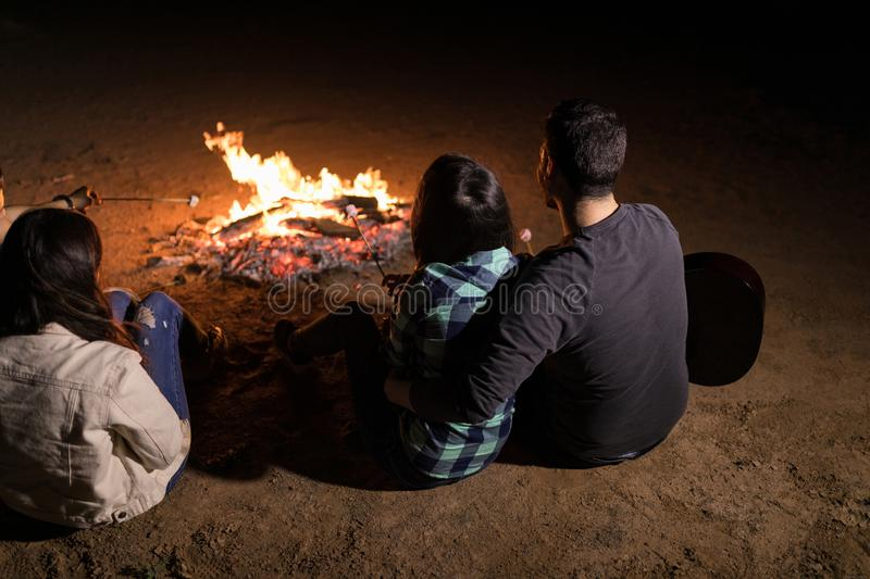 Camping In Woods stock photography
