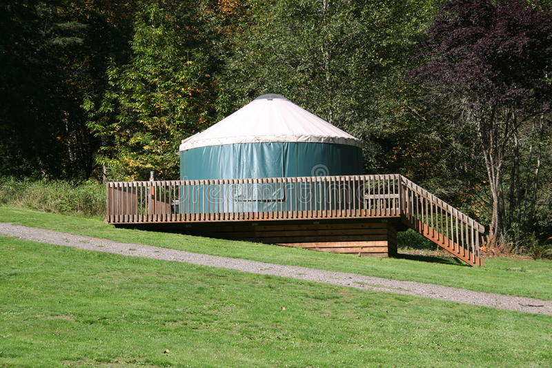Download Camping Yurt stock photo. Image of washington, lawn, outdoor - 16354356