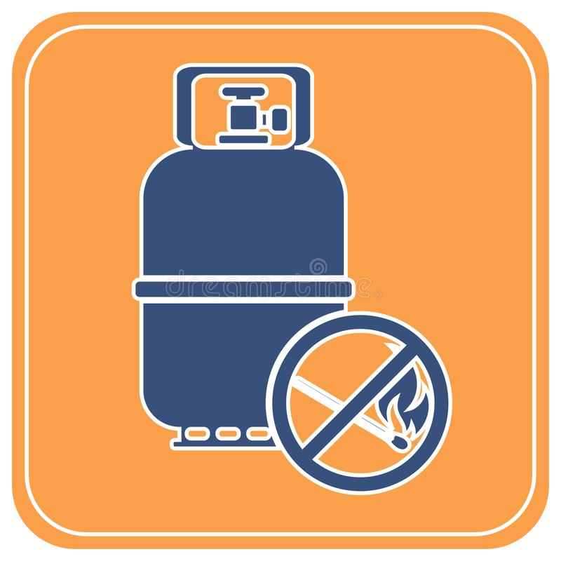 Campingowa benzynowej butelki ikona ilustracji