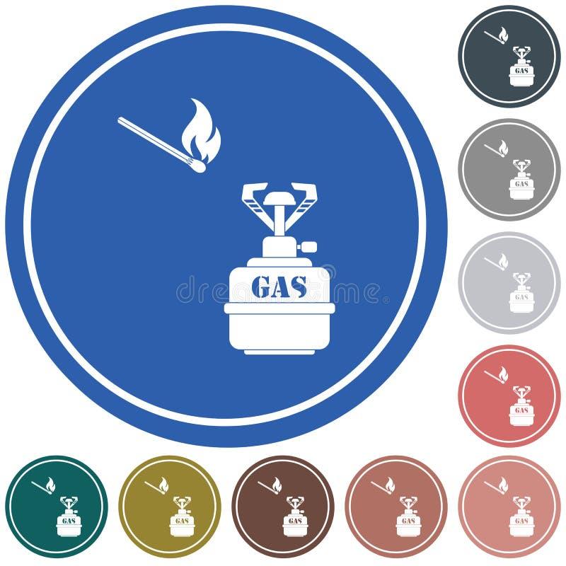 Campingowa piecowa ikona ilustracji