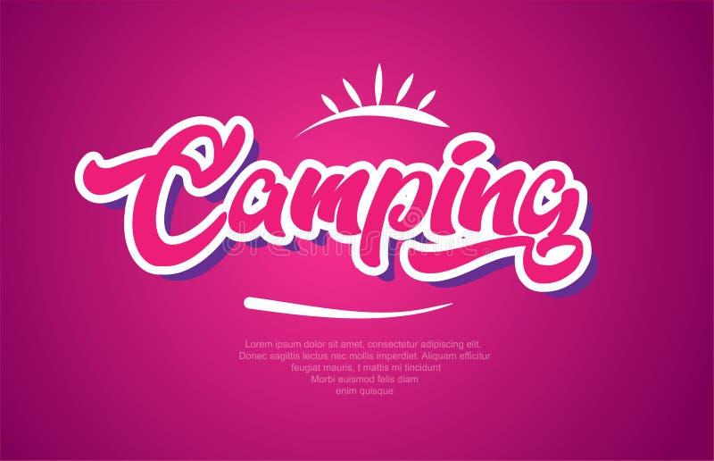 campingowa słowo teksta typografii menchii projekta ikona royalty ilustracja