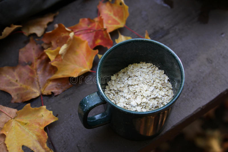 campingowy jesień oatmeal obraz royalty free