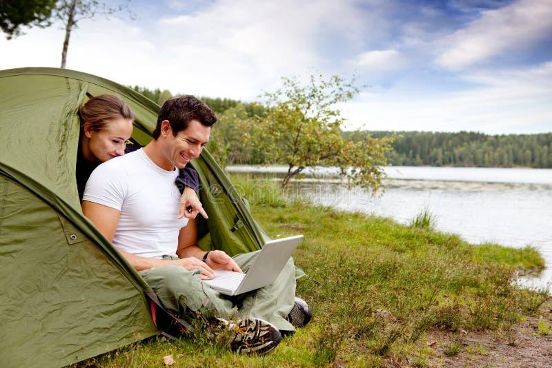 campingowy komputer zdjęcie royalty free