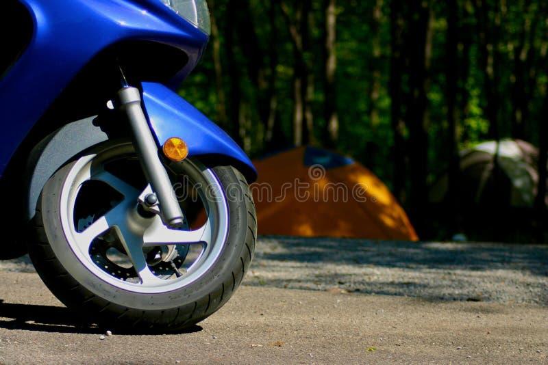 campingowy motocykla zdjęcia stock