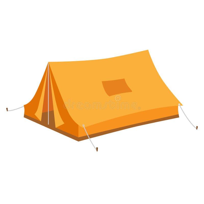 Campingowy namiot w 3D, isometric ilustracja wektor
