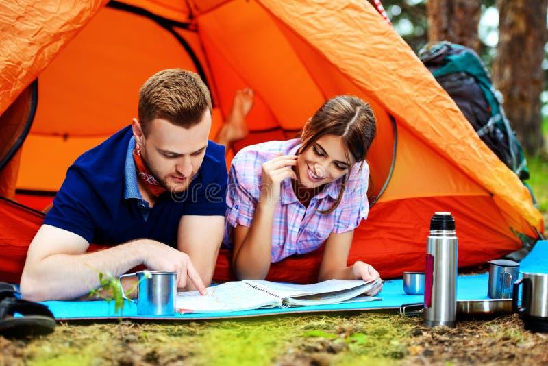 campingowy odpoczynek zdjęcie stock