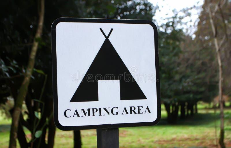 Campingowy terenu znak zdjęcie royalty free