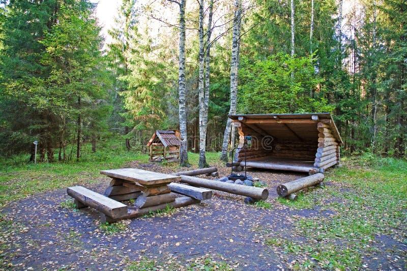 Campingplace fotografía de archivo