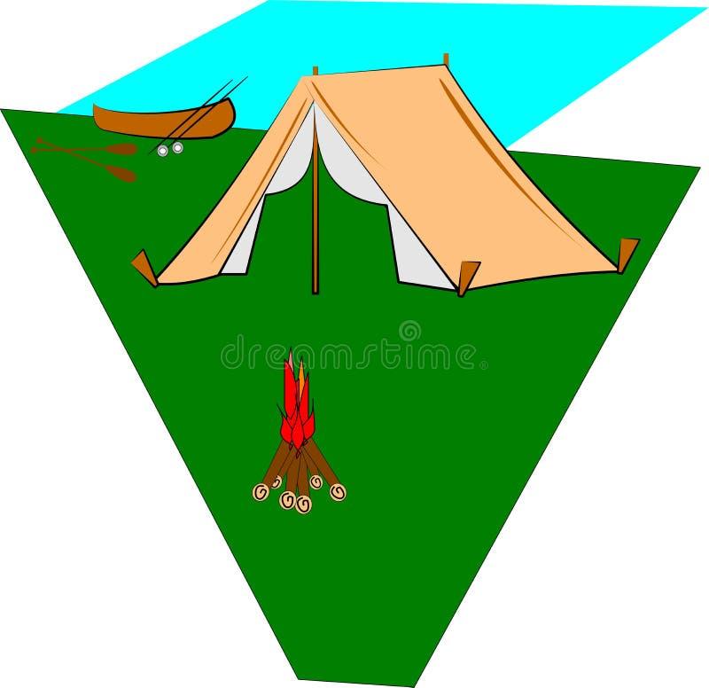 campingplats vektor illustrationer