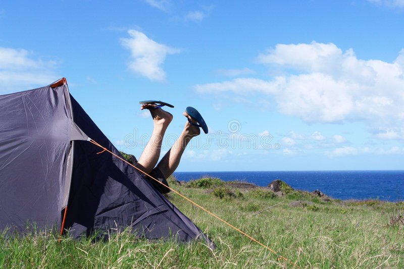 Campingplatz, lizenzfreie stockfotos